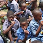 497 Smiles for Africa break the Guinness World Record